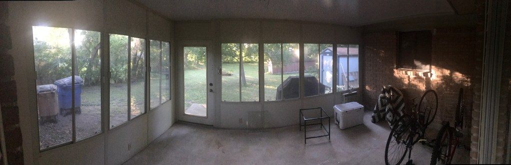 home remodel before and after - sunroom