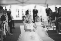 Lexi as a Flower Girl in Aunt Molly's Wedding - May 2017
