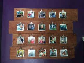 Shiplap Photo Display