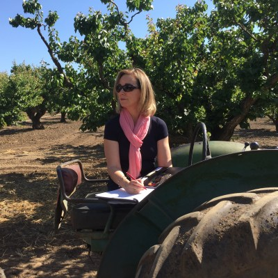 Orchard Interview in Charlie Olson's apricot orchard