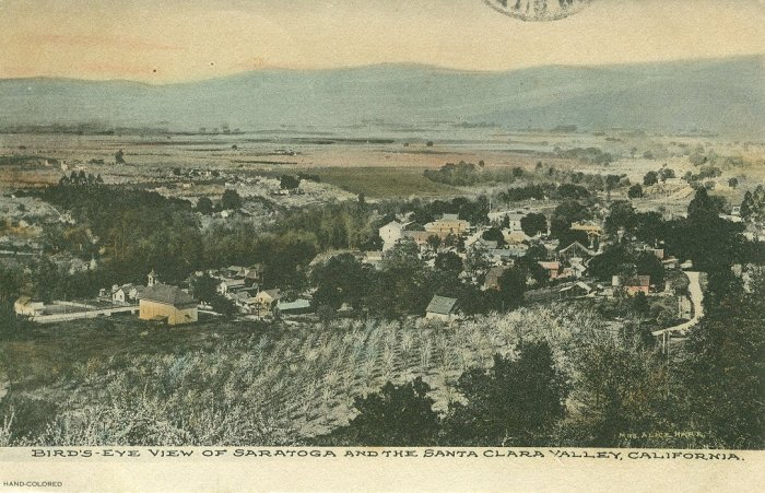 Saratoga's Orchards, 1909 postcard
