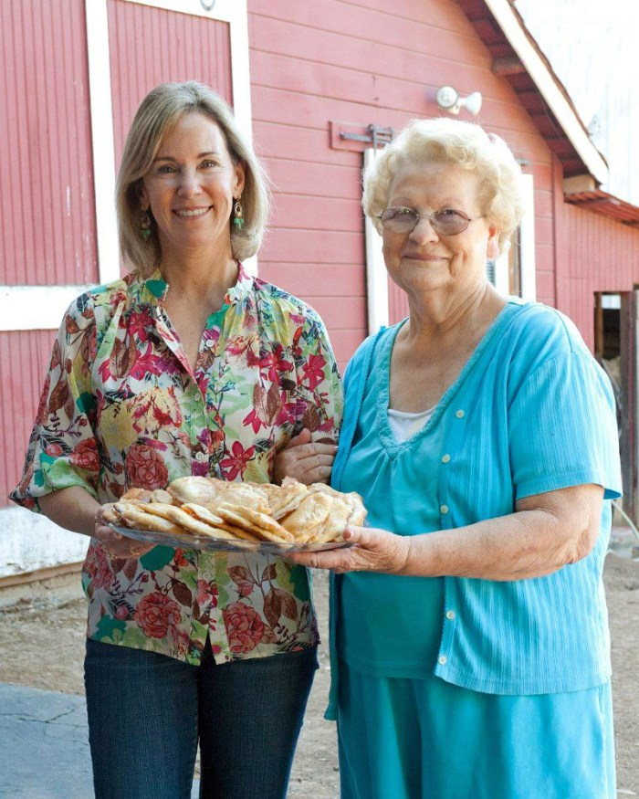 Lisa and Leah with Apricot Hand Pies
