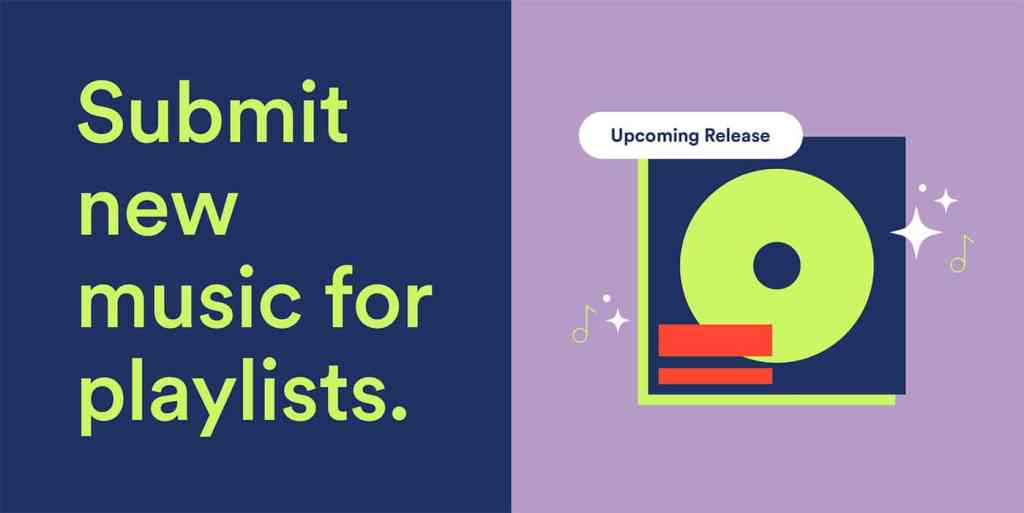 Spotify's new feature: submit to official Spotify playlists