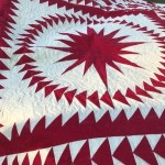 paper pieced quilt, red and white quilt, medallion quilt, compass star quilt