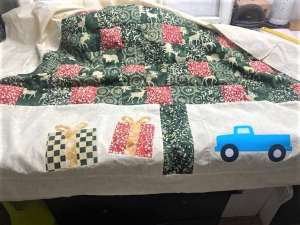 christmas tree patchwork quilt