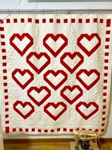 patchwork heart quilt