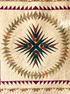 paper pieced quilt medallion-flying geese