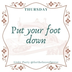 put your foot down