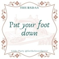 put your foot down quilt linky party