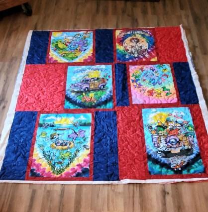gratefule dead tshirt quilt