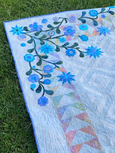 log cabin quilt, log cabin tree quilt, log cabin tree of life quilt, island batik fabric