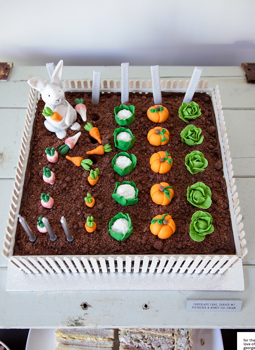 Rabbit Vegetable Garden Cake For The Love Of George