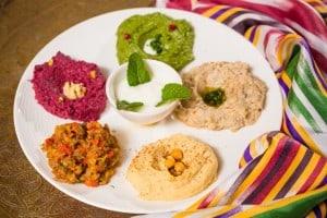 Hummus dip variations