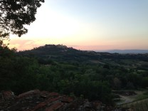 Montepulciano in the distance