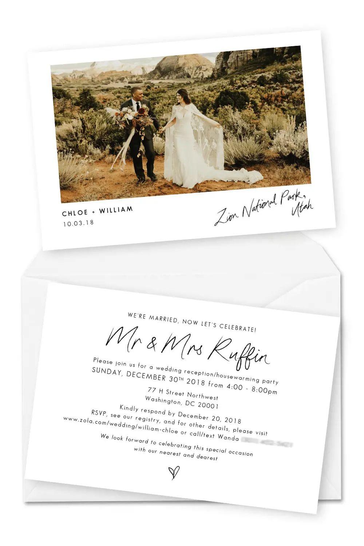 elopement announcements
