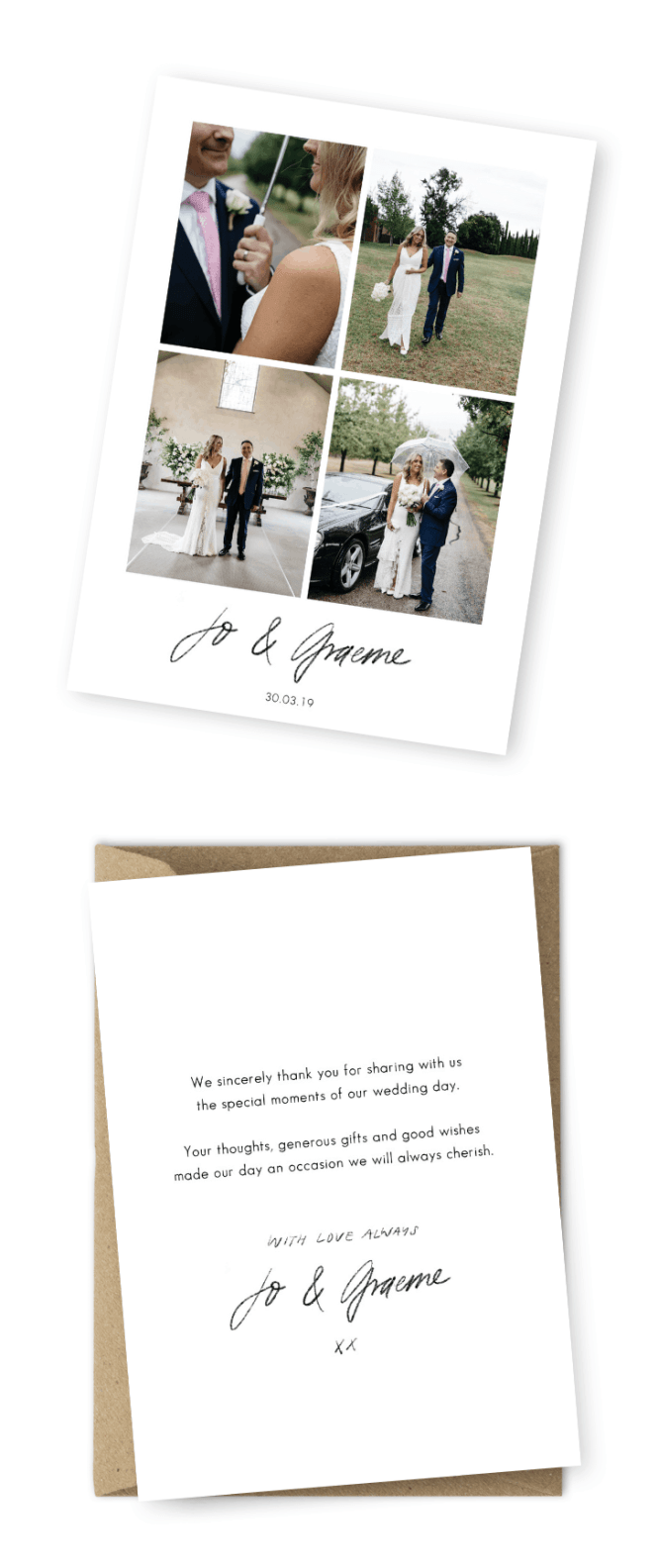7 Wording Ideas For Your Wedding Thank You Cards
