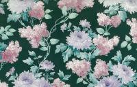 Green Floral Vintage Wallpaper Pink White Purple Lilacs