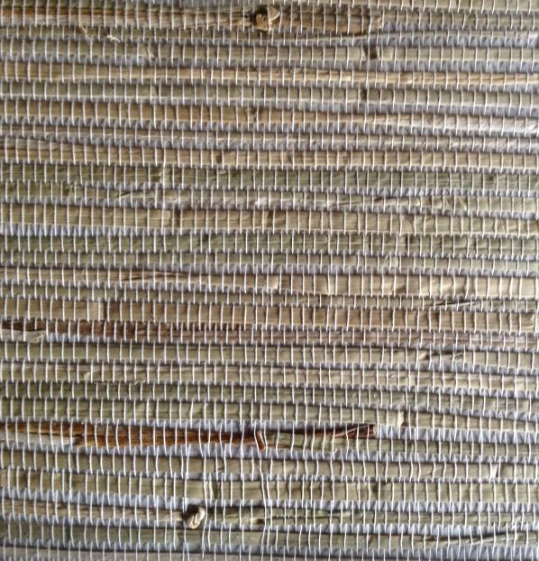 Wallpaper Grasscloth Natural Gray Beige Textured HY30273 D