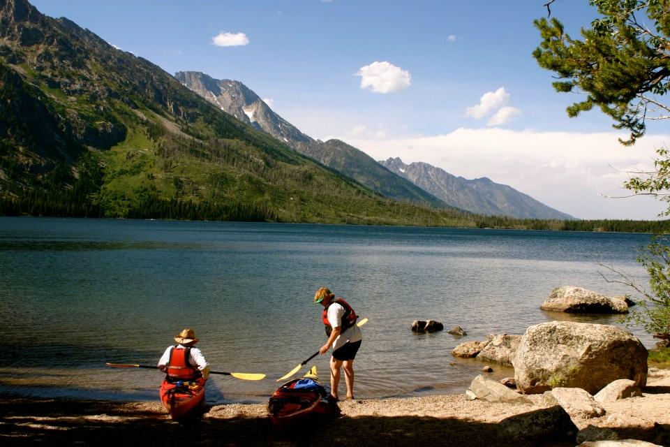Kayakers on Jenny Lake