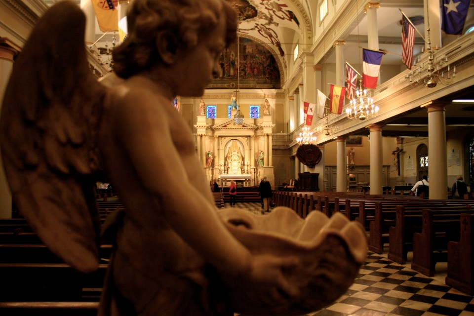 Inside the Saint Louis Cathedral