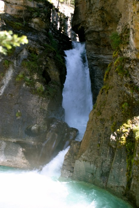 The Lower Falls in Johnston Canyon