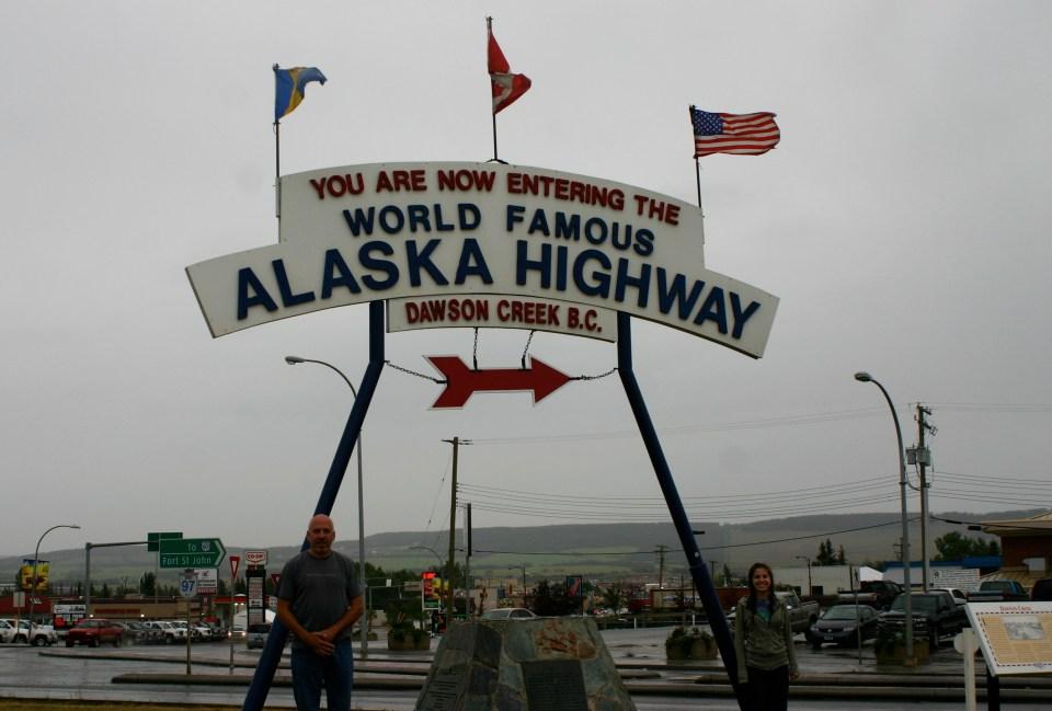 Mile Zero on the Alaska Highway