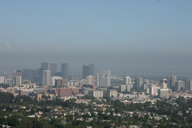 The View of LA and the Pacific from the top of the Getty