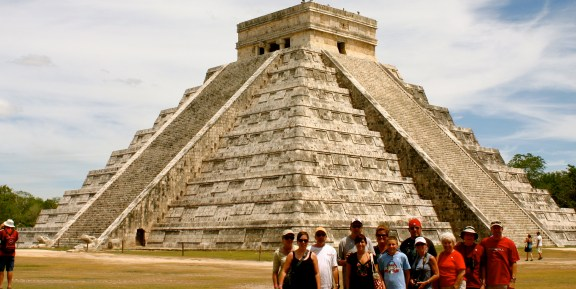 The crew (minus 2) at Chichen Itza