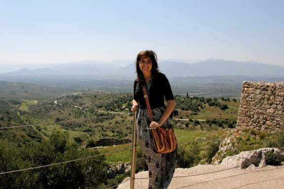 Looking Out From the Top of Ancient Mycenae