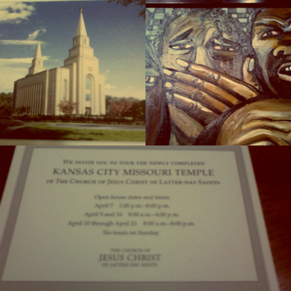 Mormon Temple collage