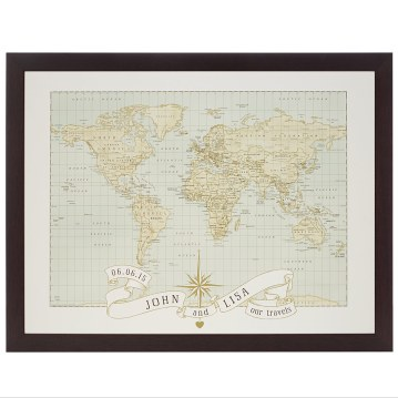 Personalized Anniversary Pushpin World Map.Holiday Gift Guide For Every Type Of Traveler For The Love Of