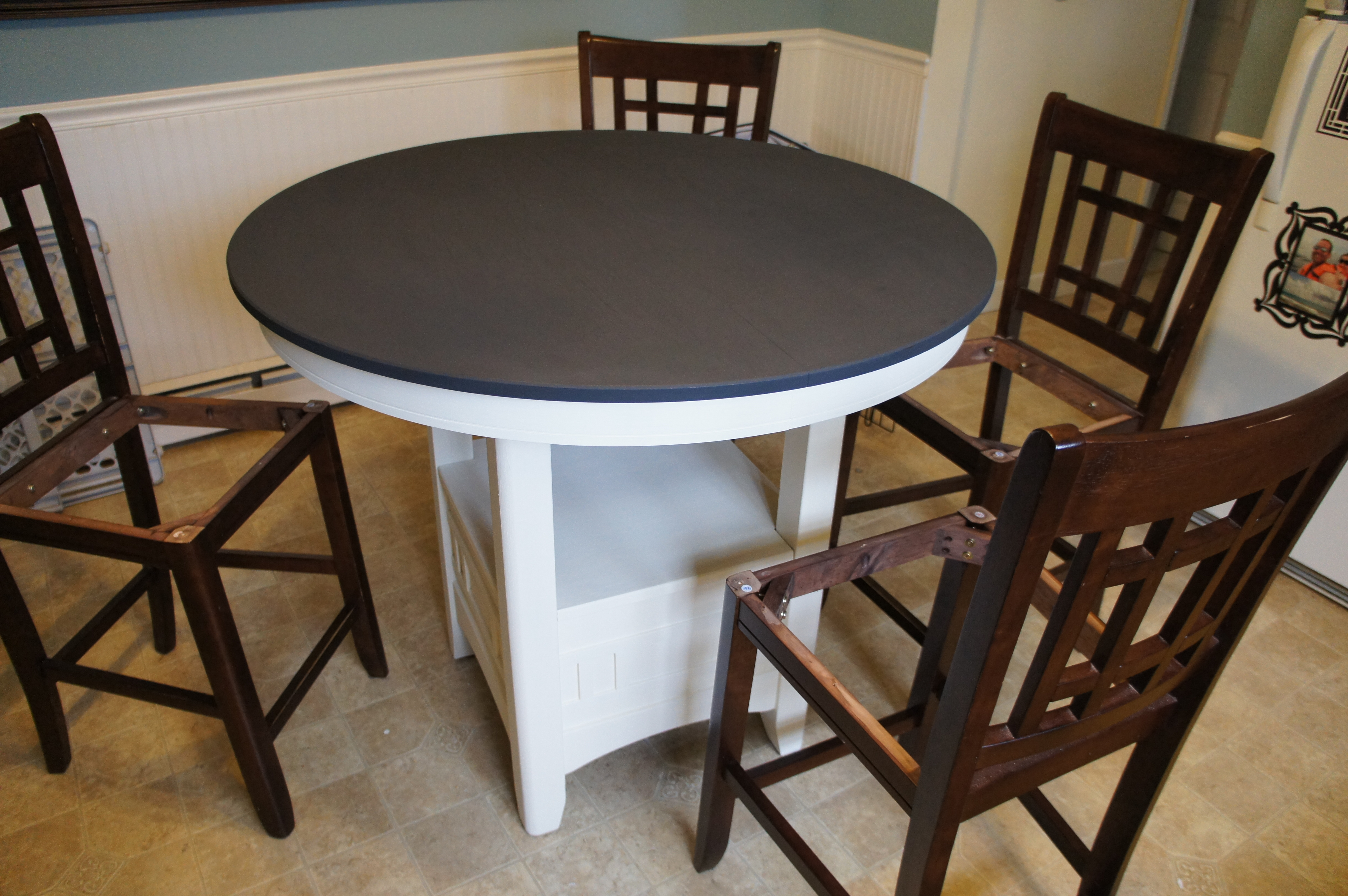 Annie Sloan Chalk Paint Kitchen Table Tutorial For The Love Of