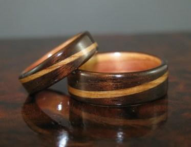 Dark Hawaiian Koa with a Juniper Heartwood spiralled bands