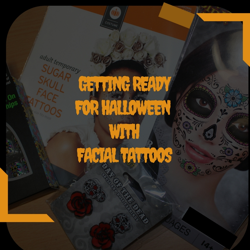 Getting Ready For Halloween With Facial Tattoos / #PartyTime #WorkingMom