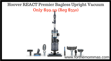 Hoover REACT Premier Bagless Upright Vacuum Only $99.99