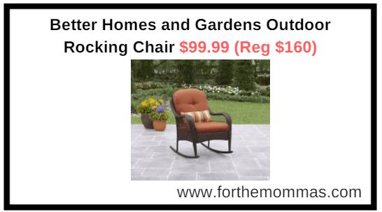 walmart outdoor rocking chair serta recliner com better homes and gardens 99 reg 160