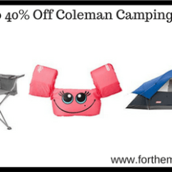 Coleman Cooler Quad Chair Target Varaschin Hanging Up To 40% Off Camping Gear   As Low $14.24 - Ftm