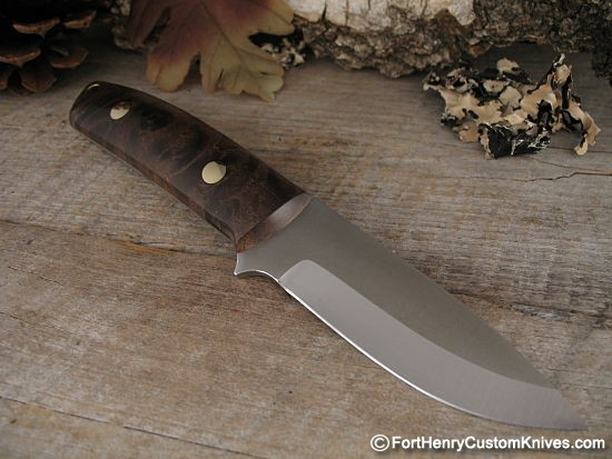 Stabilized Maple Burl Knife Scales