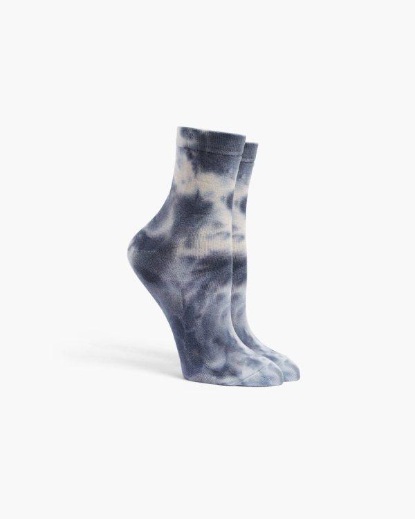 Women's Storm Socks, Blue Tie Dye