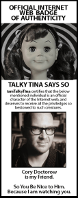 Talky Tina Badge of Authenticity