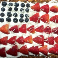 HEALTHY American Flag Fresh Fruit Pizza!