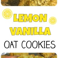 Summertime Lemon Vanilla Oat Cookies!