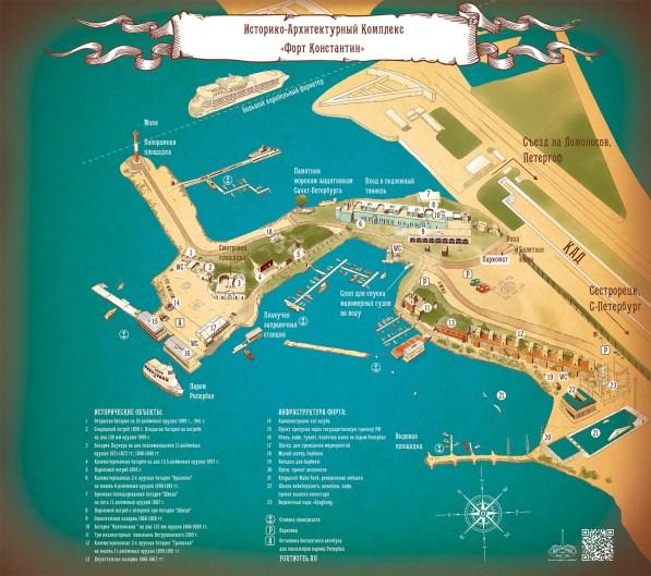 Карта объектов форта Константин
