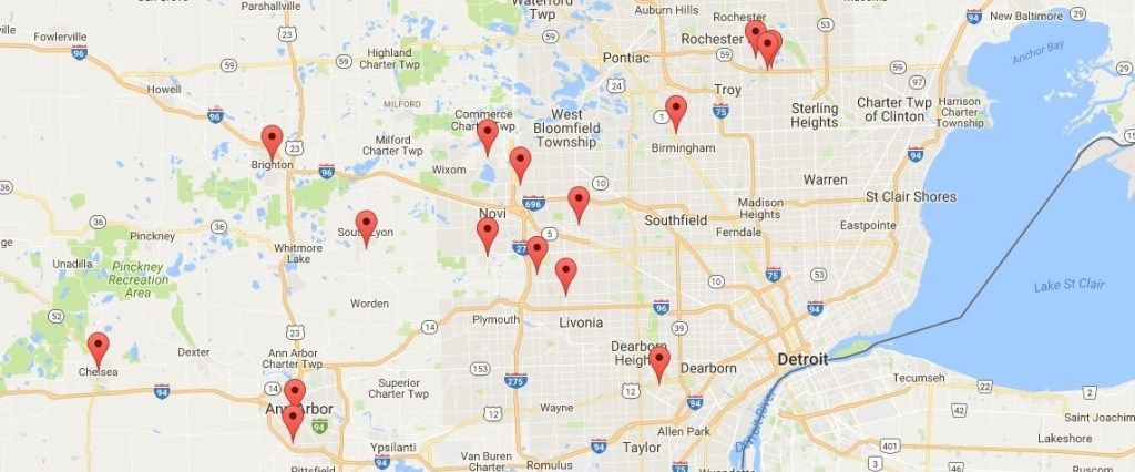 Forthright Health Direct Primary Care Network Map in Metro Detroit Michigan