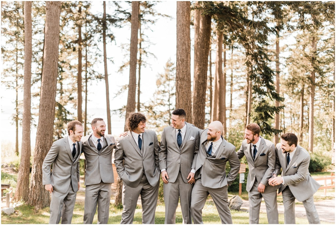 Photo of a groom and his groomsmen in Bayview, WA