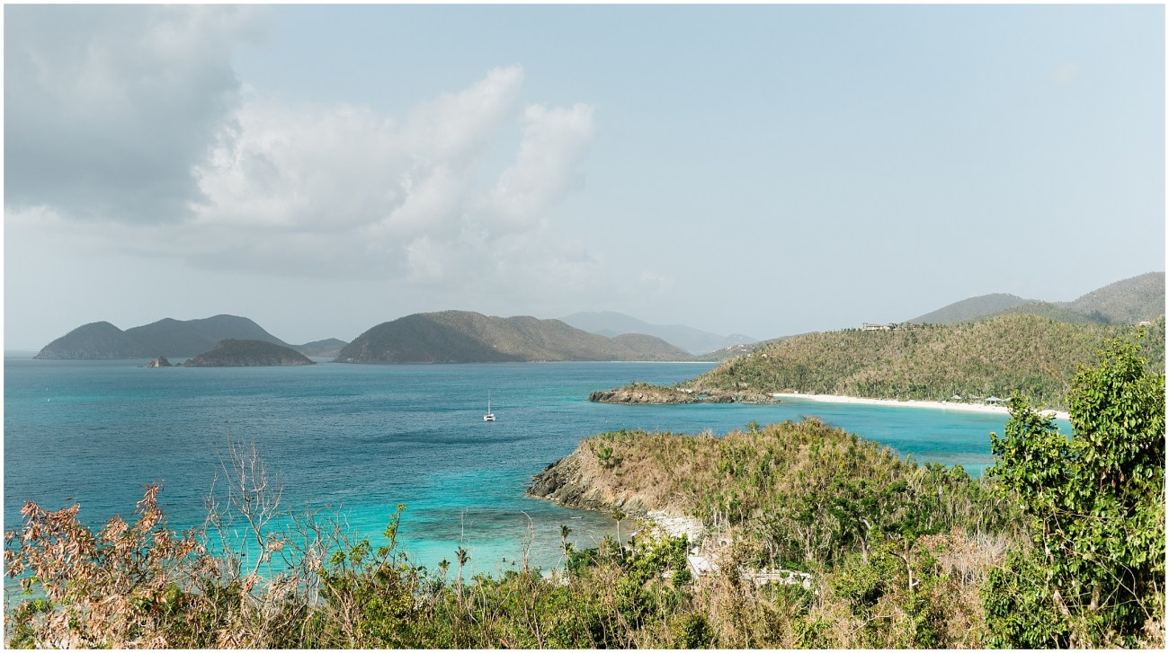 Panoramic View of Hawksnest Beach in Virgin Islands National Park, St John, USVI