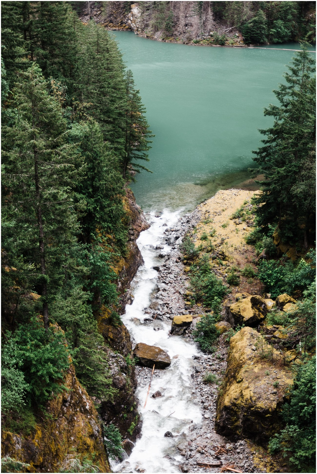 Aerial view of a river in North Cascades National Park by Forthright Photo