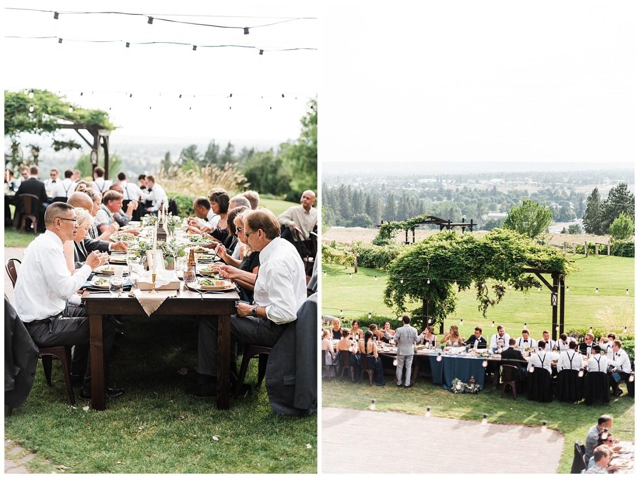 Photos of a wedding reception at Beacon Hill in Spokane WA