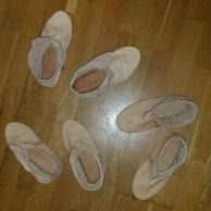 Hedeby-støvler, vrengt og tørket / Hedeby boots, turned and dried