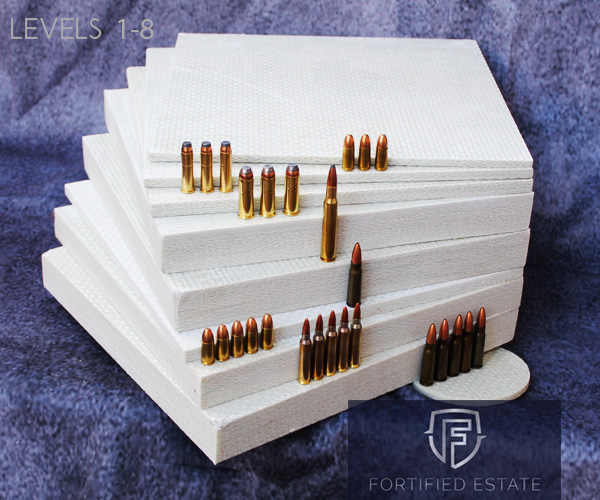 Ballistic fiberglass to all 8 levels